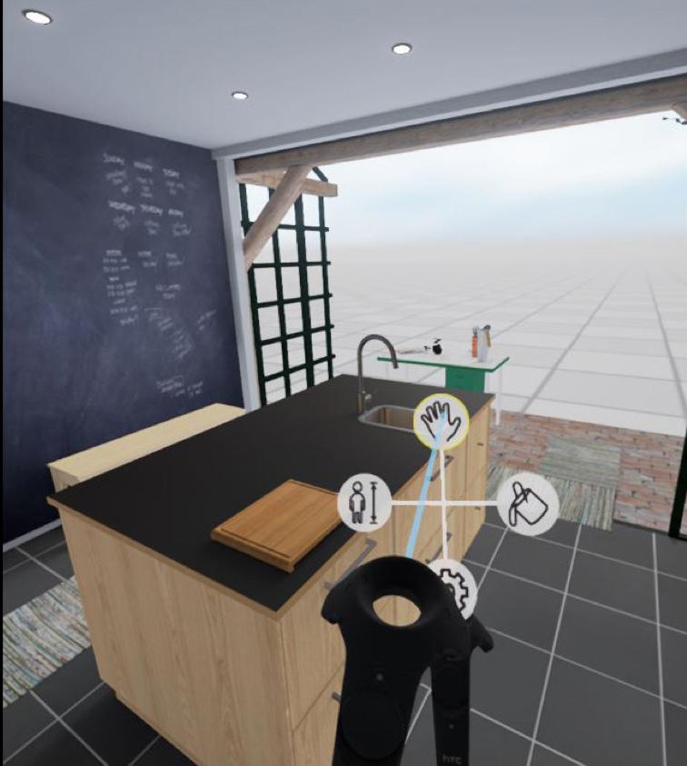 Ikea VR kitchen menu
