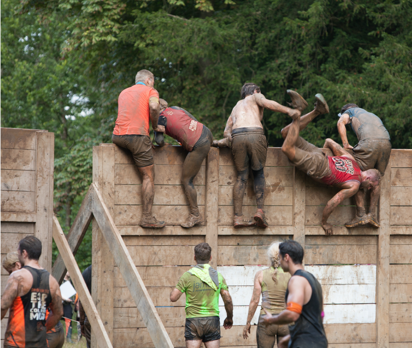 obstacle course participants