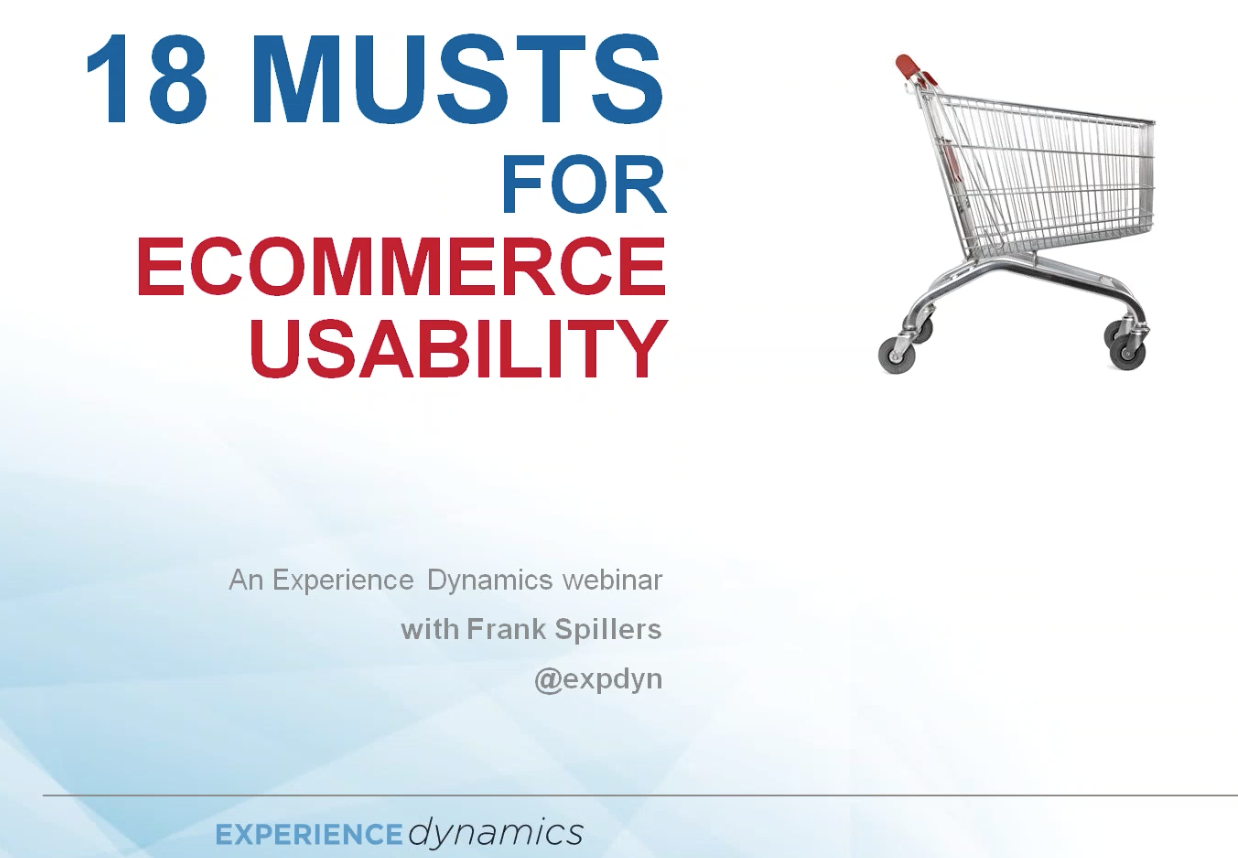Ecommerce usability best practices recording