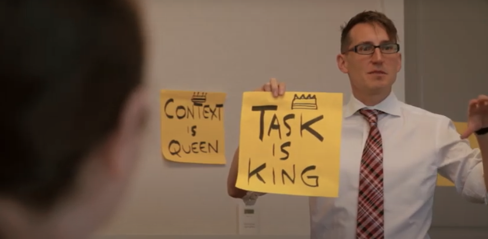 Context is queen, Task is king- Frank spillers teaches UX