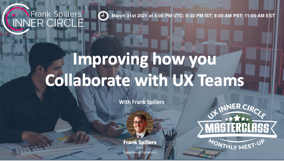 improving how you collaborate with UX teams