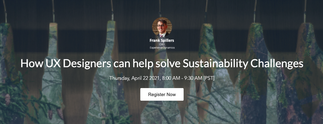 How UX Designers can help solve Sustainability Challenges