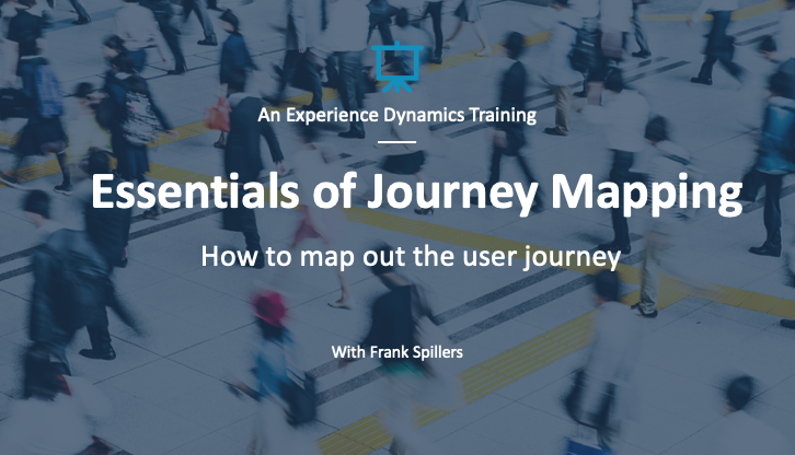 Essentials fo journey mapping course
