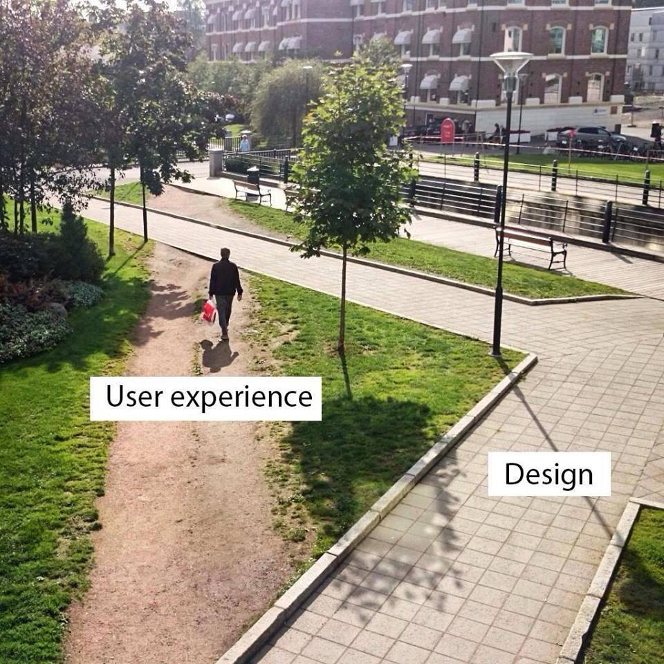 UX vs Visual Design- walkway vs footpath