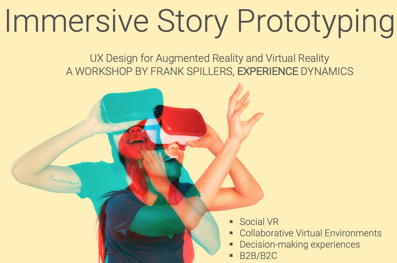 """Experience Dynamics founder and Chief Experience Officer, Frank Spillers, will be teaching a workshop on techniques for improving user experience for """"XR"""" (Virtual Reality, Mixed Reality and Augmented Reality) at this year's Portland Design Week festival. Frank Spillers is an early UX leader and subject matter expert in collaborative virtual enivronments and UX design for AR/VR.  About the workshop:Designing your Story in AR/VR for Maximum Impact and Engagement with Frank Spillers  In this session, we wil"""