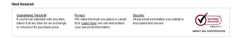Lands end privacy